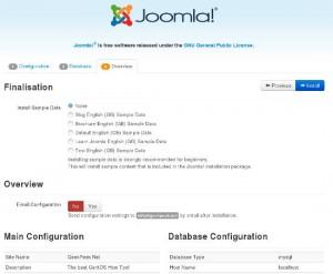 Install Joomla: Finalize