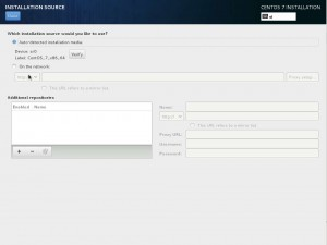 Install CentOS 7 - Installation Source