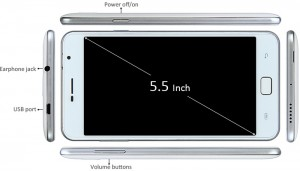 5.5 inch Blackview Alife P1 Pro