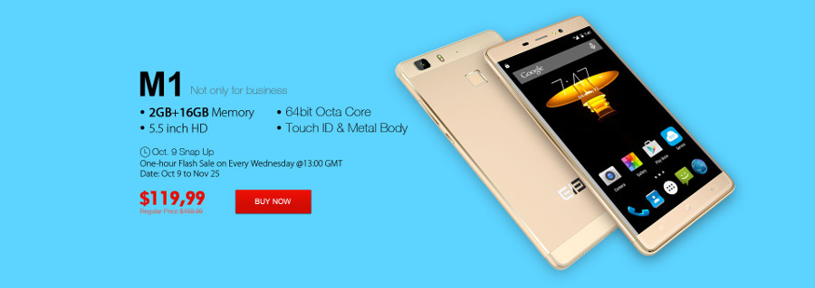 ELEPHONE Wednesday Flash Sale in October - Elephone M1