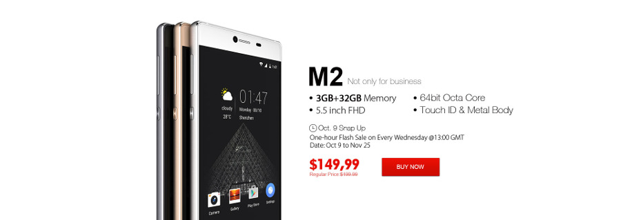ELEPHONE Wednesday Flash Sale in October - Elephone M2