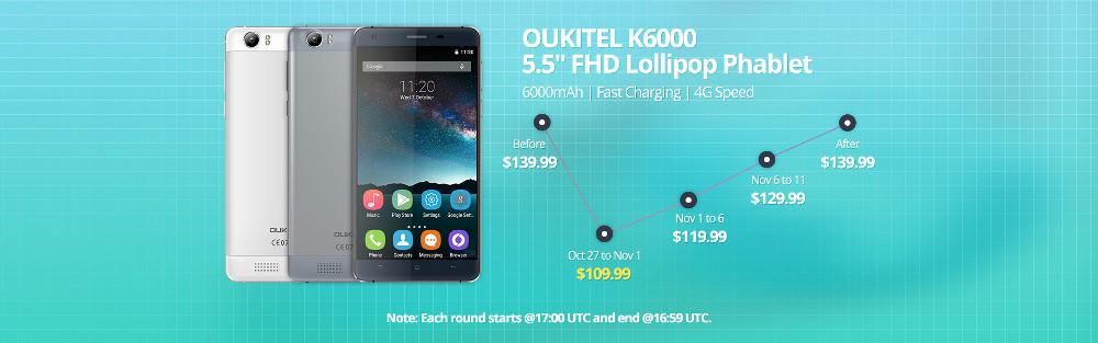 Oukitel K6000 Flash Sale
